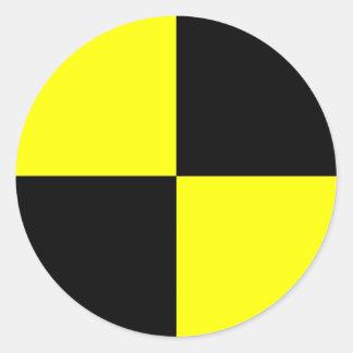 衝突テストダミーの記号の印の交通事故 丸型シール