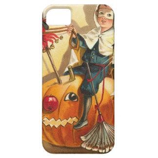 衣裳の男の子のジャックOのランタンのカボチャApple iPhone SE/5/5s ケース