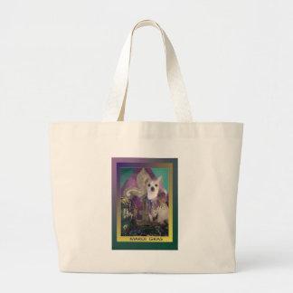 衣裳の謝肉祭のチワワ ラージトートバッグ