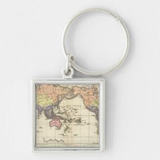 衣類のスタイルの世界地図 キーホルダー