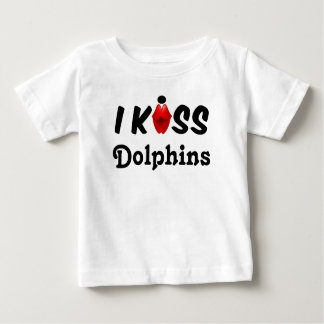 衣類の子供私はイルカに接吻します ベビーTシャツ