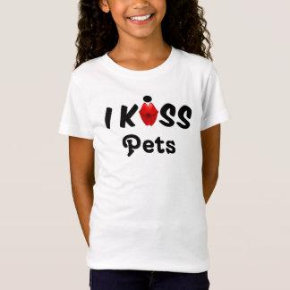 衣類の子供私はペットに接吻します Tシャツ