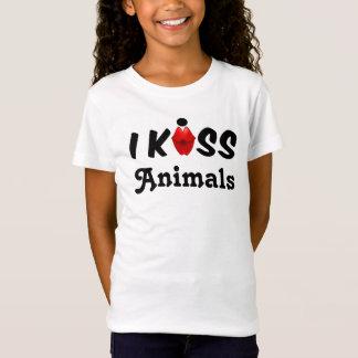 衣類の子供私は動物に接吻します Tシャツ