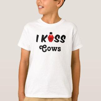 衣類の子供私は牛に接吻します Tシャツ