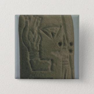 表意文字から、Urukから成っている文書 5.1cm 正方形バッジ