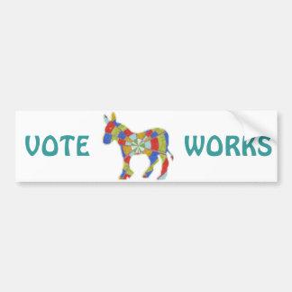 表示投票サポートは楽しむ選びます バンパーステッカー