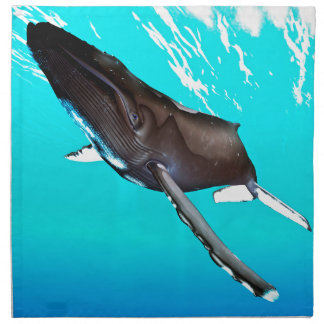 表面からのHumpbackのダイビング ナプキンクロス