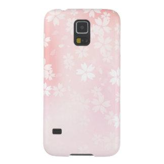 衰退したピンクか白い桜 GALAXY S5 ケース