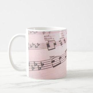 衰退したピンクの楽譜 コーヒーマグカップ