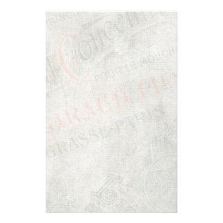 衰退したヴィンテージの紙パリ広告コラージュ 便箋