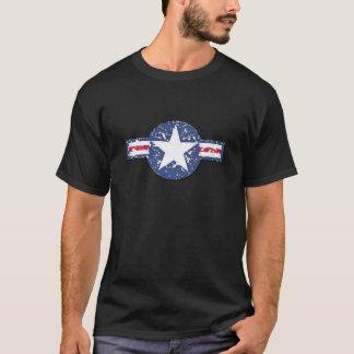 衰退した空気FoceのロゴのTシャツ(黒) Tシャツ