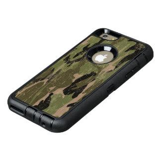 衰退した緑の迷彩柄 オッターボックスディフェンダーiPhoneケース