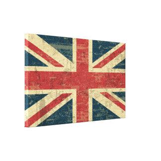 衰退した英国国旗 キャンバスプリント