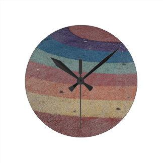 衰退した虹の範囲 ラウンド壁時計