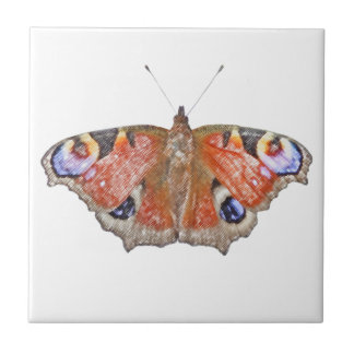 衰退した蝶 正方形タイル小