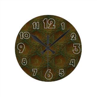 衰退する上がりました ラウンド壁時計