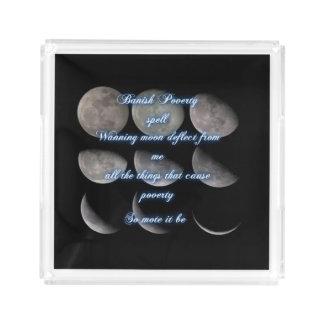 衰退の月の綴り アクリルトレー