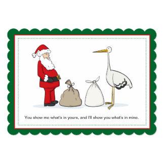 袋妊娠のクリスマスの発表袋 カード