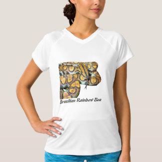 袖なしブラジルの虹のボアマイクロ繊維 Tシャツ