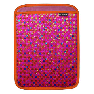 袖のiPadの水玉模様のSparkleyの宝石 iPadスリーブ