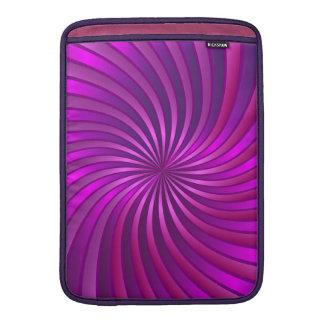 袖のMacBookのピンクの螺線形渦 MacBook スリーブ