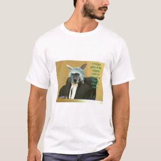 裁判官がぶら下がったなとき判断して下さい Tシャツ