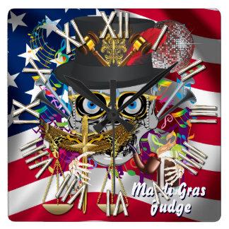 裁判官の謝肉祭30色の重要な眺めのノート スクエア壁時計