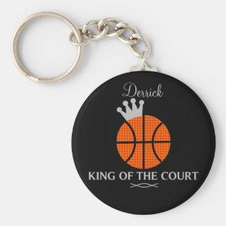 裁判所のバスケットボールKeychainの王 キーホルダー