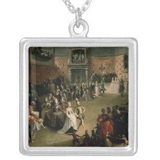 裁判所の球1604年 シルバープレートネックレス