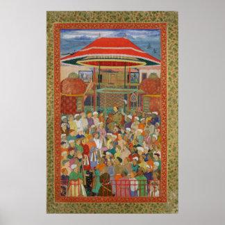 裁判所歓迎する皇帝Jahangir ポスター