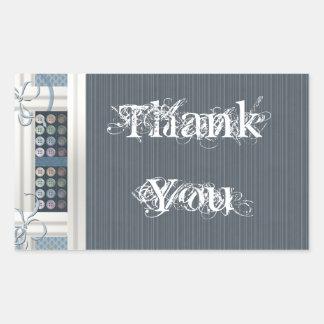 裁縫の常習者ありがとう 長方形シール