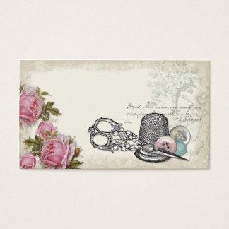 裁縫の概念のアイボリーの名刺 名刺