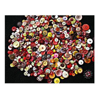 裁縫の概念のヴィンテージボタン ポストカード