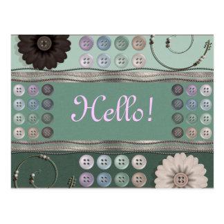 裁縫の熱狂者の緑 ポストカード