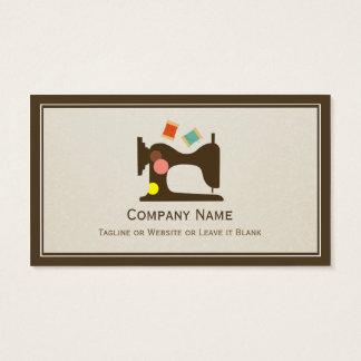 裁縫婦のテーラーミシン-シンプルな上品 名刺