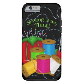 裁縫婦または裁縫のiPhone 6の場合か皮 ケース
