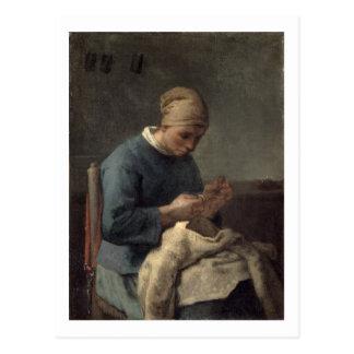 裁縫婦 ポストカード