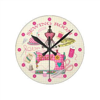 裁縫部屋の時計 ラウンド壁時計