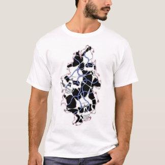 裂かれたスカルはTシャツをワイヤーで縛りました Tシャツ
