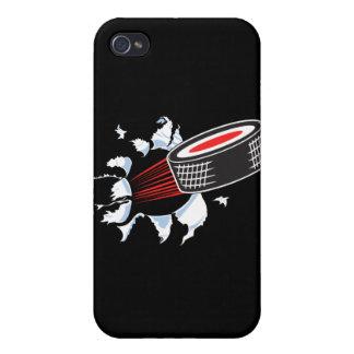 裂けるアイスホッケー用パック iPhone 4/4Sケース
