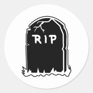 裂け目の墓碑のステッカー ラウンドシール