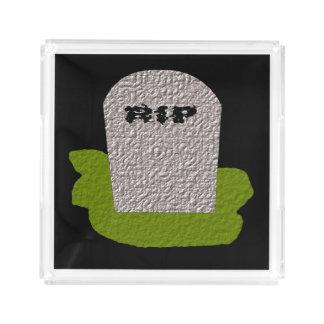 裂け目の墓碑の香水の皿 アクリルトレー