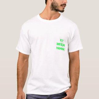 裂け目の白のスポットライト Tシャツ