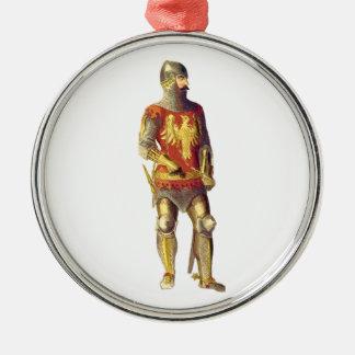 装甲のスーツの騎士 メタルオーナメント