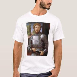 装甲の人のポートレート Tシャツ
