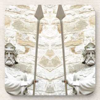 装甲の騎士が付いている中世背景 コースター