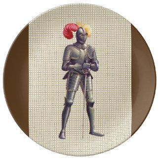 装甲の騎士 磁器プレート