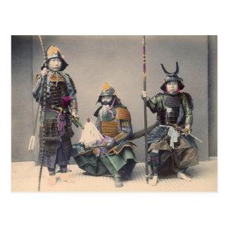 装甲ヴィンテージの写真の3武士 ポストカード