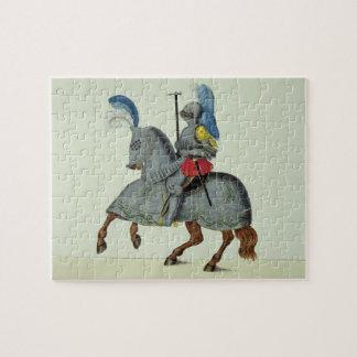 装甲、「歴史からのプレートの騎士そして馬 ジグソーパズル