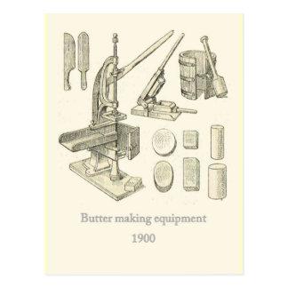 装置を作るバター ポストカード
